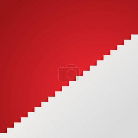 Illustration for White staircase vector illustration Eps 10. - Royalty Free Image