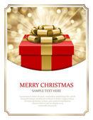 Gift box and light christmas