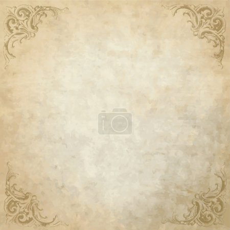 Illustration for Vintage background with copy space - Royalty Free Image