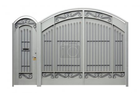 Photo for Modern  forged  decorative  gates and Doors.  Isolated over white background. - Royalty Free Image