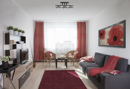Photo for Interior shot of a modern living room - Royalty Free Image