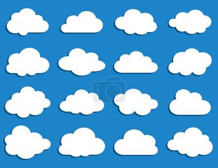 Illustration pour Collection de nuages de vecteur - image libre de droit