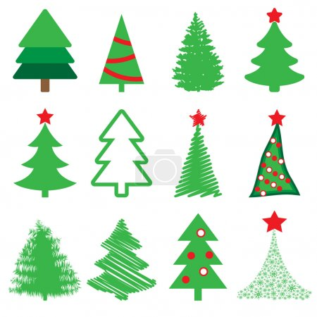 Collection of vector spruce