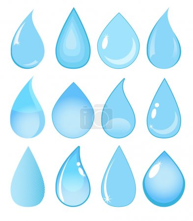 Collection of vector water drops