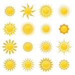 Set of sun. Vector...