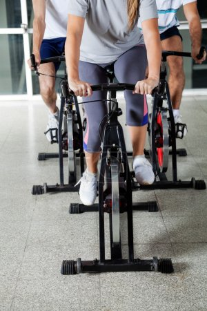 Low Section Of On Exercise Bikes