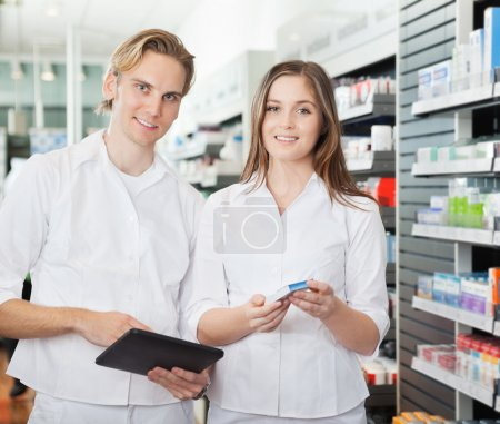 Pharmacist with Digital Tablet
