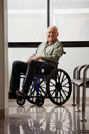 Happy Disabled Senior Man