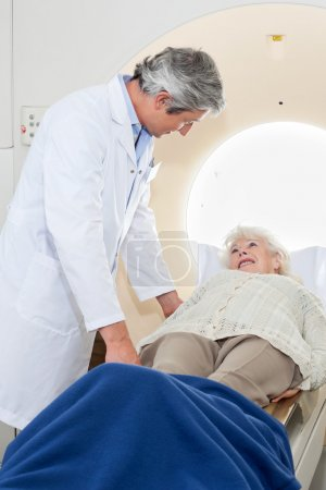 Senior Female Having MRI Scan