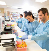 Researchers Experimenting In Laboratory