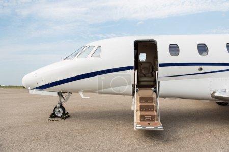Business Jet With Open Door