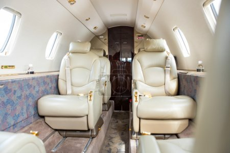 Interior Of Private Jet