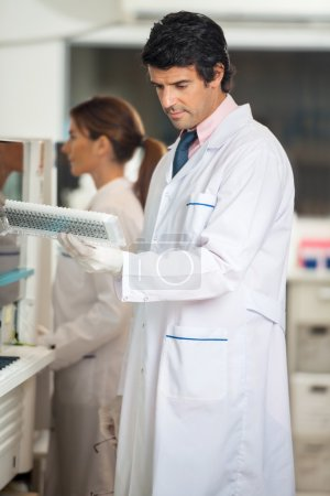 Technician Analyzing Samples