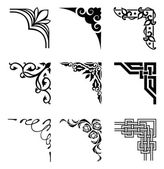 Set of ornamental corners in different style