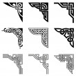 Set of ornamental corners in celtic style...