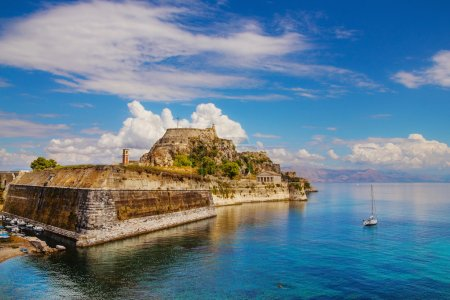 Old Byzantine fortress in Corfu