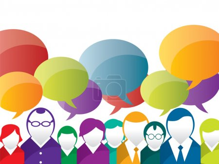 Illustration for Discussion and communication between on business - Royalty Free Image