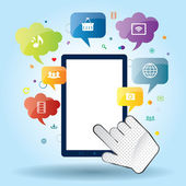 Mobile communication apps to services available on the internet