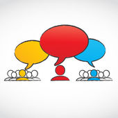 Conversation groups with speech bubbles