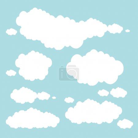 Illustration pour Des nuages bleus douces abstract vector illustration - image libre de droit
