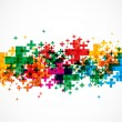 Abstract colorful plus signs design vector backgro...