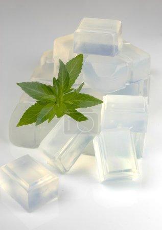 Photo pour Base de savon de glycérine bio pour les cosmétiques faits maison - image libre de droit