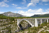 Bridge over the Verdon Gorge, canyon in France, Provence