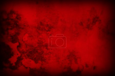 Photo for Christmas seasonal red background textured paper grungy design element. - Royalty Free Image