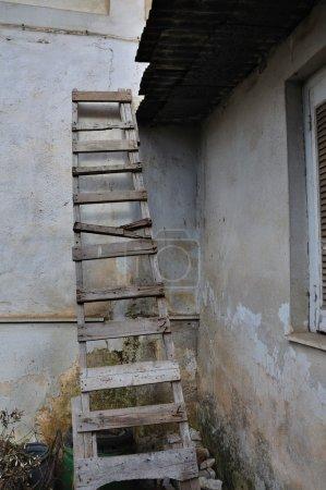 Wooden broken ladder