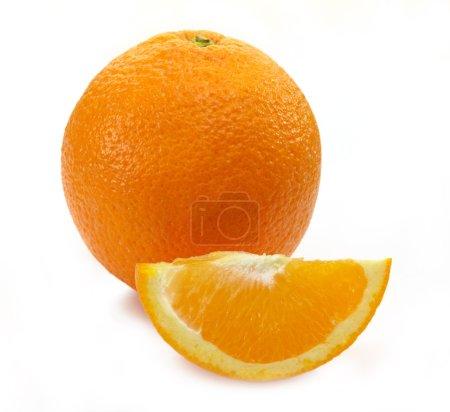 Photo for Ripe orange on white background - Royalty Free Image