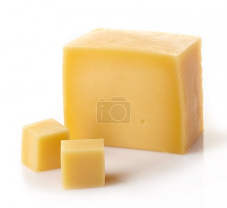 Photo for A piece of cheese on white background - Royalty Free Image