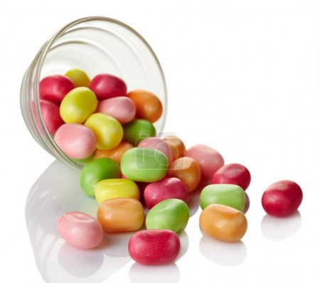 Colorful chewing candies