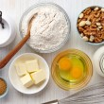 Ingredients for baking cake...