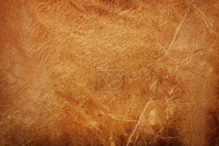 Photo pour Texture de cuir brun naturel bouchent - image libre de droit