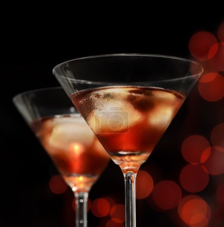 Photo for Red cocktail in martini glasses - Royalty Free Image