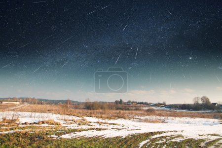 starry sky in winter. Elements of this image furnished by NASA