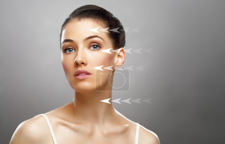 Photo for Beauty woman on the grey background - Royalty Free Image