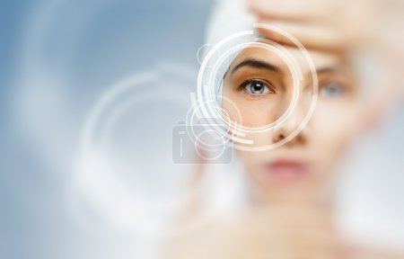 Photo for Healthy eyes of a young girl - Royalty Free Image