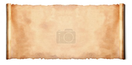 Horizontal ancient scroll isolated