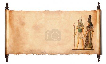 Photo pour Faire défiler des images de dieux égyptiens - Pharaon et horus. isolé sur fond blanc - image libre de droit