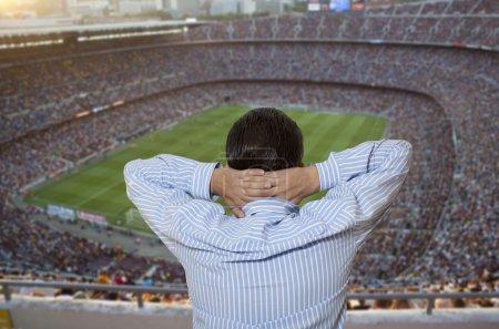 Sad soccer fans