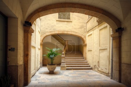 Courtyard of old spanish home