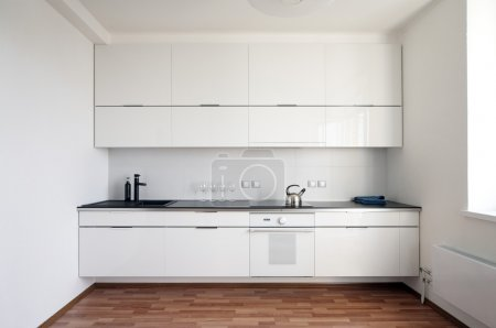 Photo for Modern kitchen interior in minimalism style - Royalty Free Image
