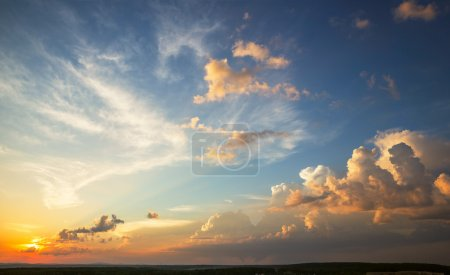 Photo for Sunset sky with multicolor clouds - Royalty Free Image