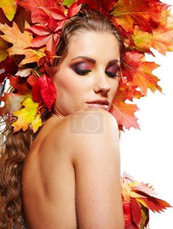 Beautiful autumn women.