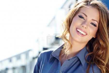 Young happy women or student on the property busin...