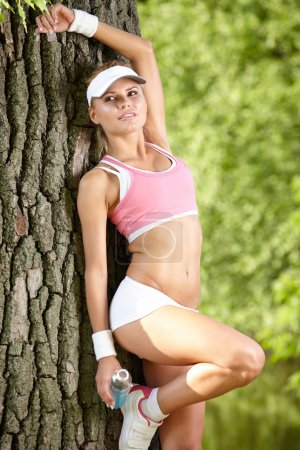 Young attractive fitness woman
