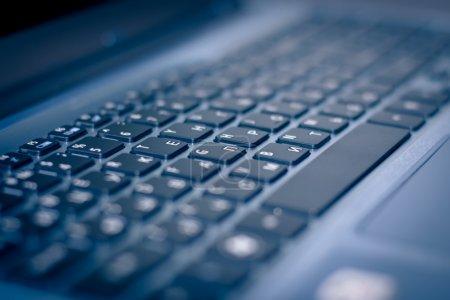 Photo for Keyboard of laptop closeup - Royalty Free Image