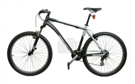 Photo for Mountain bicycle bike isolated on white background - Royalty Free Image