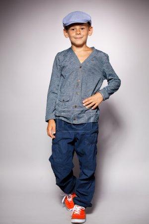 Photo for Fashion child. Happy boy model - Royalty Free Image